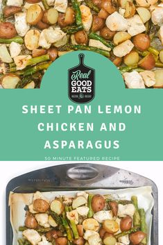 We love this quick and easy one pan meal! All ingredients cook on the same pan which helps cut down on dishes. This sheet pan recipe is perfect for a busy weeknight dinner. One Pan Dinner Recipes, Healthy Dinner Recipes, Healthy Weeknight Dinners, Quick Easy Meals, Vegetarian Pasta Recipes, Chicken Recipes, Pan Recipe, Food Reviews, Lemon Chicken