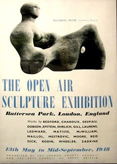 Henry Moore 1940's exhibition poster