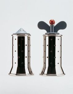 Pre-owned Graves for Alessi Pepper and Salt Grinder - Pair from Chairish. Saved to S & P Shakers. Salt And Pepper Grinders, Salt Pepper Shakers, Michael Graves, Id Design, Ceramic Tableware, Alessi, Wood And Metal, Industrial Design, Shopping