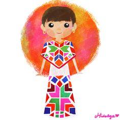México colores y diseños de sus trajes típicos Hidalgo
