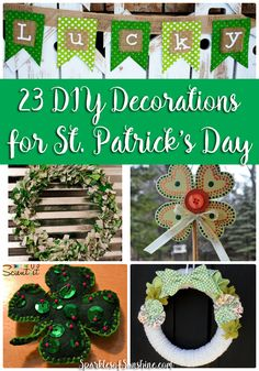 Want to spruce up your St. Patrick's Day this year? Check out these 23 DIY decorations that will add some green to your life this year.