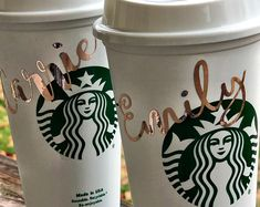 Personalized Starbucks Cup BPA FREE reusable tumbler / coffee / wedding / gift / birthday / party / travel / bridesmaid / your own text Starbucks Tumbler Cup, Personalized Starbucks Cup, Custom Starbucks Cup, Personalized Wedding Gifts, Coffee Tumbler, Personalized Tumblers, Coffee Cups, Trending Christmas Gifts, Cute Christmas Gifts