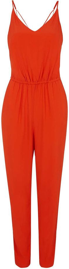 Womens tomato jumpsuit from Topshop - £39 at ClothingByColour.com