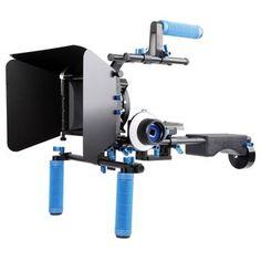 ayex Profi DSLR Rig-Komplett-Set - Rig DR4 + Follow Focus F1 + MatteBox M3 + Pro C-Arm + Griff + Gewicht
