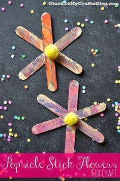 Popsicle Stick Flowers {Kid Craft}