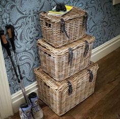 Wicker storage baskets look lovely and outlast plastic and cardboard by many years. Choose from our range of sizes here: http://www.amberleyproducts.co.uk/large-laundry-linen-basket.html