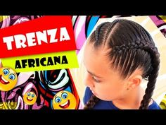 Trenza Africana - African Hair - Peinados para el colegio - YouTube Fashion Images, New Fashion, Top Braid, Curly, Hair Due, Pelo Afro, Princess Hairstyles, Cornrows, Little Princess