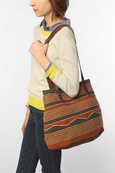 Ecote Woven Patter Tote Bag on sale for $19.95