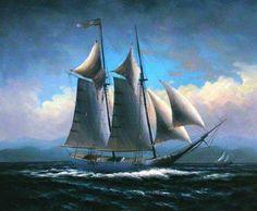 Famous Sailing Ship Paintings | original paintings sailing boats 2 painting-28424
