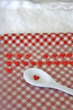 Homemade heart sprinkles Wilton Chocolate melts