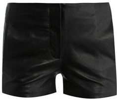 T By Alexander Wang Leather shorts on shopstyle.com