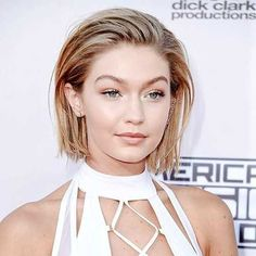 These Are the Biggest Hair Trends of 2017 & They're Taking Over Pinterest: We *already* called this, but the biggest red carpet look this season is a slicked-back bob. It looks fancy and lazy, somehow simultaneously, so we're obviously into it. -- Gigi Hadid | coveteur.com