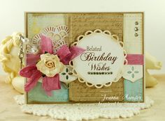 Inspired by Stamping Birthday Wishes Stamp Set, Shabby Card, Birthday Card, Birthdays
