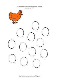 graphisme les œufs de la poule