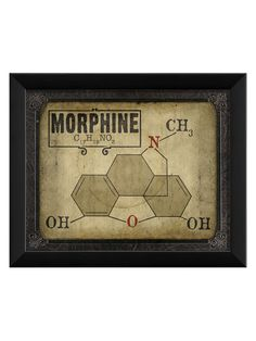 Morphine Molecule - Gilt Home  LOL got to have this!