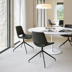 arper - team chairs with matching base color (i want to use grey chairs with grey leg for the white conference tables)