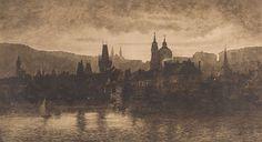JOSEF BÁRTA (1864-1919) Panorama of Prague