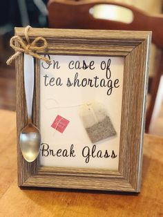 Quirky Craft: Break In Case Of Tea Shortage: I love to add a touch of whimsy on a buffet. even at Tea time. gift wine Quirky Craft: Break In Case Of Tea Shortage