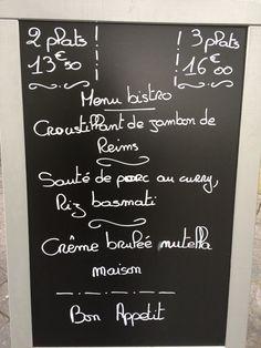 Formules du midi de la Brasserie Martin