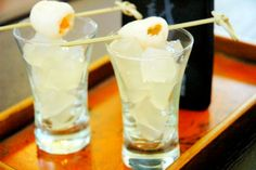 Mangoes and Palm Trees: Lychee Sake-tini Jello Shots