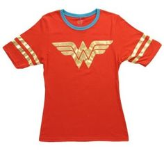 Womens Wonder Woman Athletic Gold Foil T-Shirt #teespree