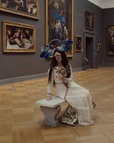 Click to watch video of Lana filmed by Vogue at the Met Gala 2018! | Vogue Magazine: Lana Del Rey brought drama and custom accessories to the European paintings room with her Renaissance Gucci look. #LDR #video