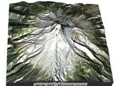 Mt Hood 3d printed