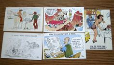 5 Vintage Funny Risque Postcards Unused by carriesattic
