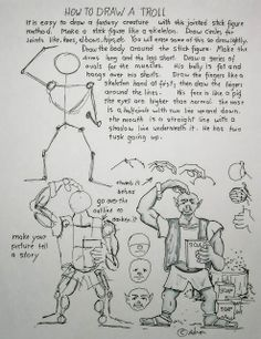 Troll How to Draw Worksheets for The Young Artist