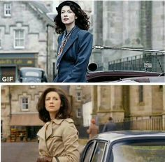Claire 1940's before the stones and 1960's after the stones.