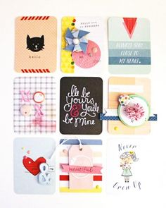 "I love having decorative tags on hand for all sorts of gift-giving occasions and these 3 x 4"" Project Life cards get the job done perfectly! Using a mix of patterned paper, punches, rub-ons,..."