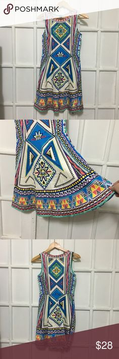Gorgeous Flying Tomato Aztec dress size S Gorgeous EUC dress. Bright colors. Aztec tribal pattern. Bottom has flare. Great summer date dress. My favorite piece!!!  FINAL MARKDOWN. CANT GO LOWER THAN $20. Flying Tomato Dresses