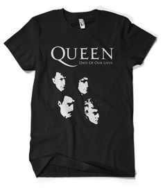 Queen T-Shirt This t-shirt is Made To Order, one by one printed so we can control the quality. Rock T Shirts, Band Shirts, Band Merch, Vintage Band Tees, Queen Outfit, T Shirt World, Days Of Our Lives, T Shirt And Shorts, Graphic Shirts