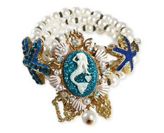 BETSEY JOHNSON Jewelry Sea Excursion Mermaid Cameo Starfish Bracelet