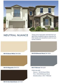 Neutrals are combined with the softest hints of color offer a quiet understated atmosphere in the Neutral Nuance Collection, HGTV HOME™ by Sherwin-Williams.