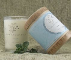 Fresh, cool, summery: Peppermint and Eucalyptus candle from Lux Aromatica.