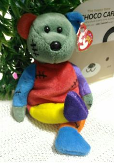 c1739f5f24b TY Beanie Baby - FRANKENTEDDY Bear ( Purple   Blue Feet)