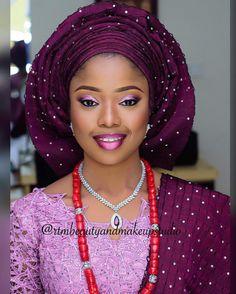 Beautiful bride Funmi  #Makeup and #gele: @rtmbeautyandmakeupstudio✔️ #AsoOke: @bisbodasoke #Fabric: @morayoasoasiko  #LoveweddingsNG