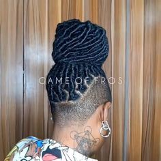 Shaved Side Hairstyles, Faux Locs Hairstyles, Black Girl Braided Hairstyles, Twist Braid Hairstyles, Natural Hair Braids, Braids For Black Hair, Undercut Natural Hair, Box Braids Updo, Natural Hair Styles