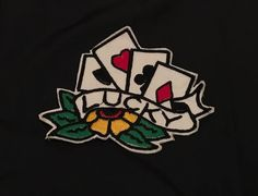 LUCKY POKER Old School Patch di MonPatchDesign su Etsy