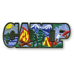 1 1/4 x 3 1/4 Inches **IRON-ON backing for easy & Snappy application** Our CAMP fun patch is a great patch to use for any general purpose camping activity. From fishing to cooking over a campfire this patch has you covered. http://www.snappylogos.com/CAMP-Fun-Patch/productinfo/3394/