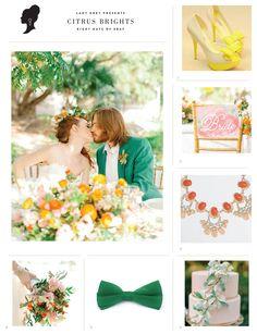 wedding ideas in Citrus Brights