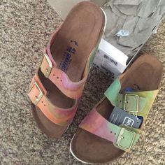 Birkenstock sandals Tie dye Birkenstock sandals Birkenstock Shoes Sandals