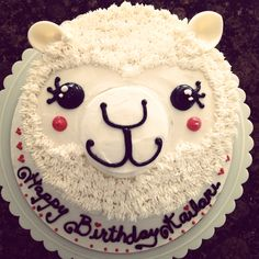 Alpaca birthday cake