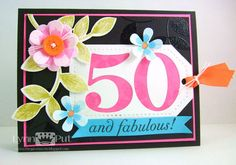 PTI January Blog Hop - 50 and Fabulous! by justbehappy - Cards and Paper Crafts at Splitcoaststampers