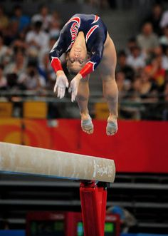 Shawn Johnson - Winning gold on beam at the 2008 Olympics.