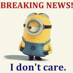 Minion Breaking News with Funny Minions.Check out the funny minions memes pictures. Lets laugh & share with your friends. Stay tuned for more funny memes Minion Humour, Funny Minion Memes, Funny Jokes To Tell, Minions Quotes, Funny Humor, Funny Sayings, Sarcasm Humor, Cartoon Humor, Hilarious Memes