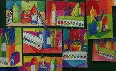 Art Supply Still Life by 4th Graders this would be great for back to school