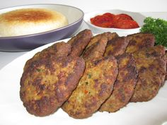 ♪ An authentic Persian kotlet has a very simple ingredient list consisting of  ground beef,  mashed potatoes,  grated raw onion (I caramelize mine),  eggs,  salt,  pepper, and  turmeric.  It is mix...