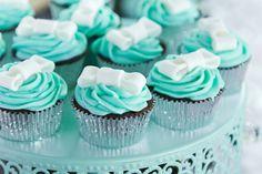 Cupcakes at a Tiffany's Party #tiffanys #party
